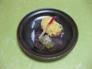 焼き物:サーモン菜種焼き