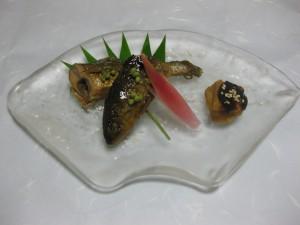 焼き物替わり:鮎の照り煮