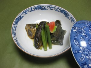 煮物:鮎と揚げ茄子の旨煮
