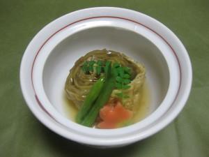 煮物:秋茄子と鰻の東寺煮