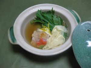 煮物:小蕪と生湯葉の小鍋