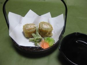揚げ物: 海老蕎麦東寺揚げ