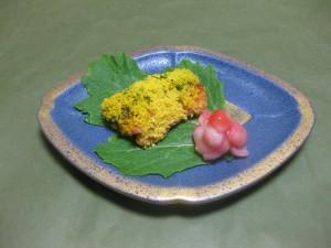 焼き物: サーモン菜種焼き