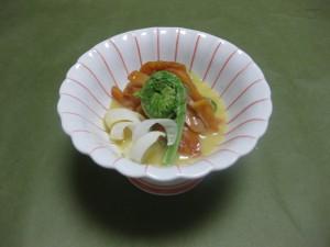 酢物:赤貝と胡瓜の酢味噌掛け