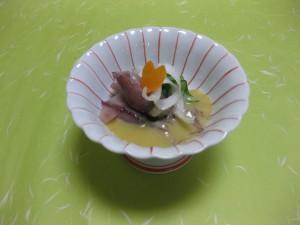 酢の物:  蛍烏賊芥子酢味噌掛け