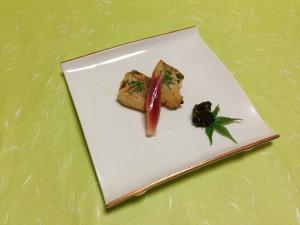 焼物:甘鯛木の芽焼き
