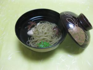 吸物:梅雨素麺と葛打ち鶏