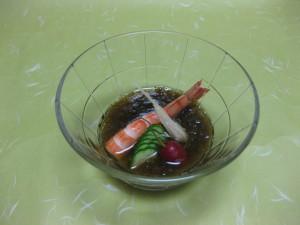 酢物:海老もずく