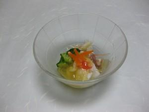 酢の物:湯引き蛸、胡瓜、茗荷