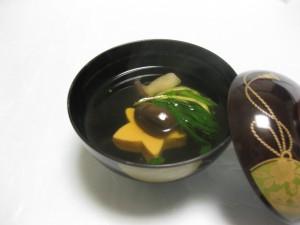 吸物:紅葉豆腐