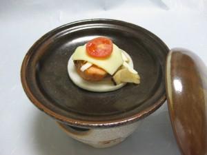 焼物:サーモンチーズ陶板焼き