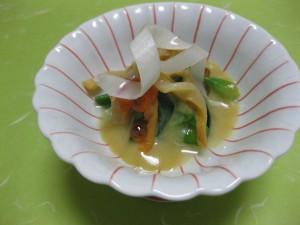 酢物:赤貝と九条葱の酢味噌和え