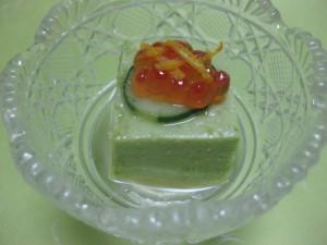 先付:皐月豆腐