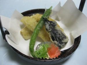 揚物:鱧の湯葉揚げ