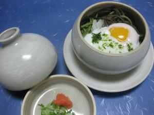 煮物(蒸し物):茶蕎麦徳利蒸し