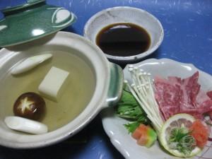 煮物:和牛しゃぶしゃぶ小鍋