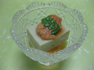 先付け: 蟹味噌豆腐