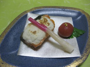 焼物:サーモン白酒焼き