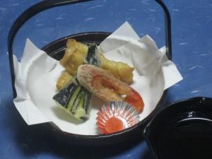 揚物:鱧の湯葉巻き
